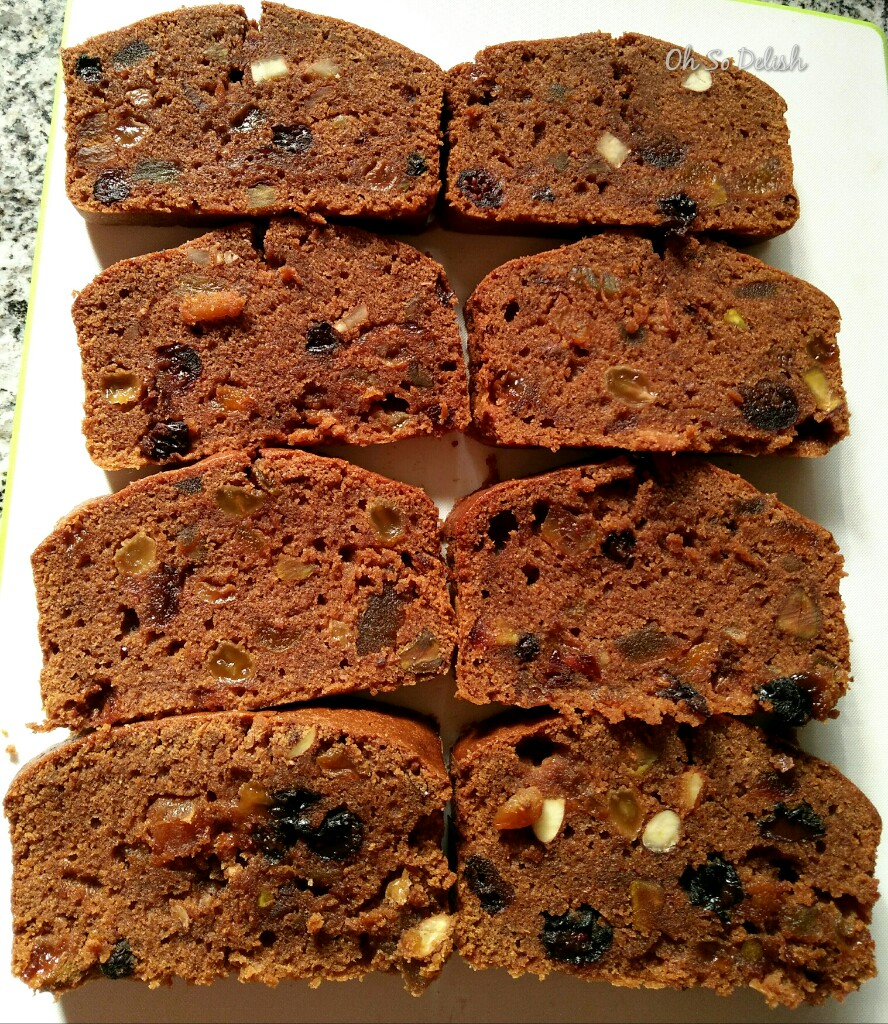 healthy whole wheat non alcoholic christmas fruit cake
