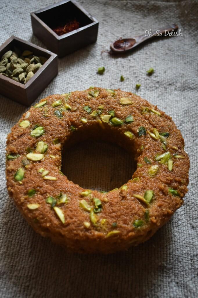 healthy whole wheat kesar pista cake
