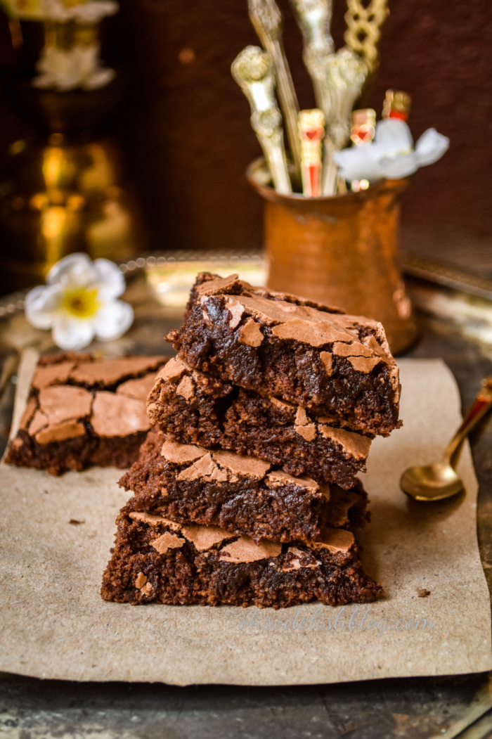 healthy oats mojito brownies