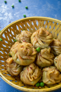 bengali peas kachori inspired green peas momo
