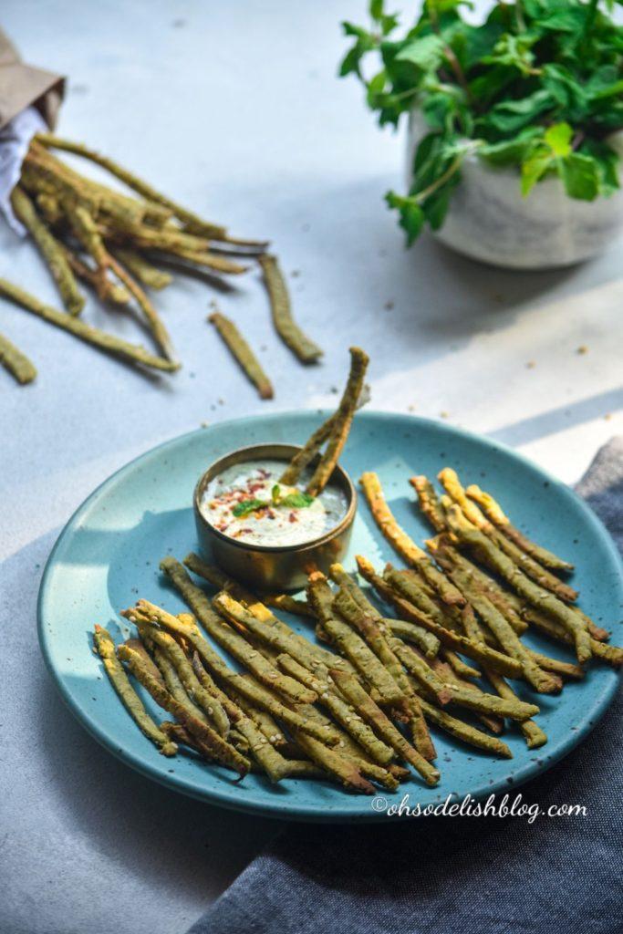 Baked mint sticks