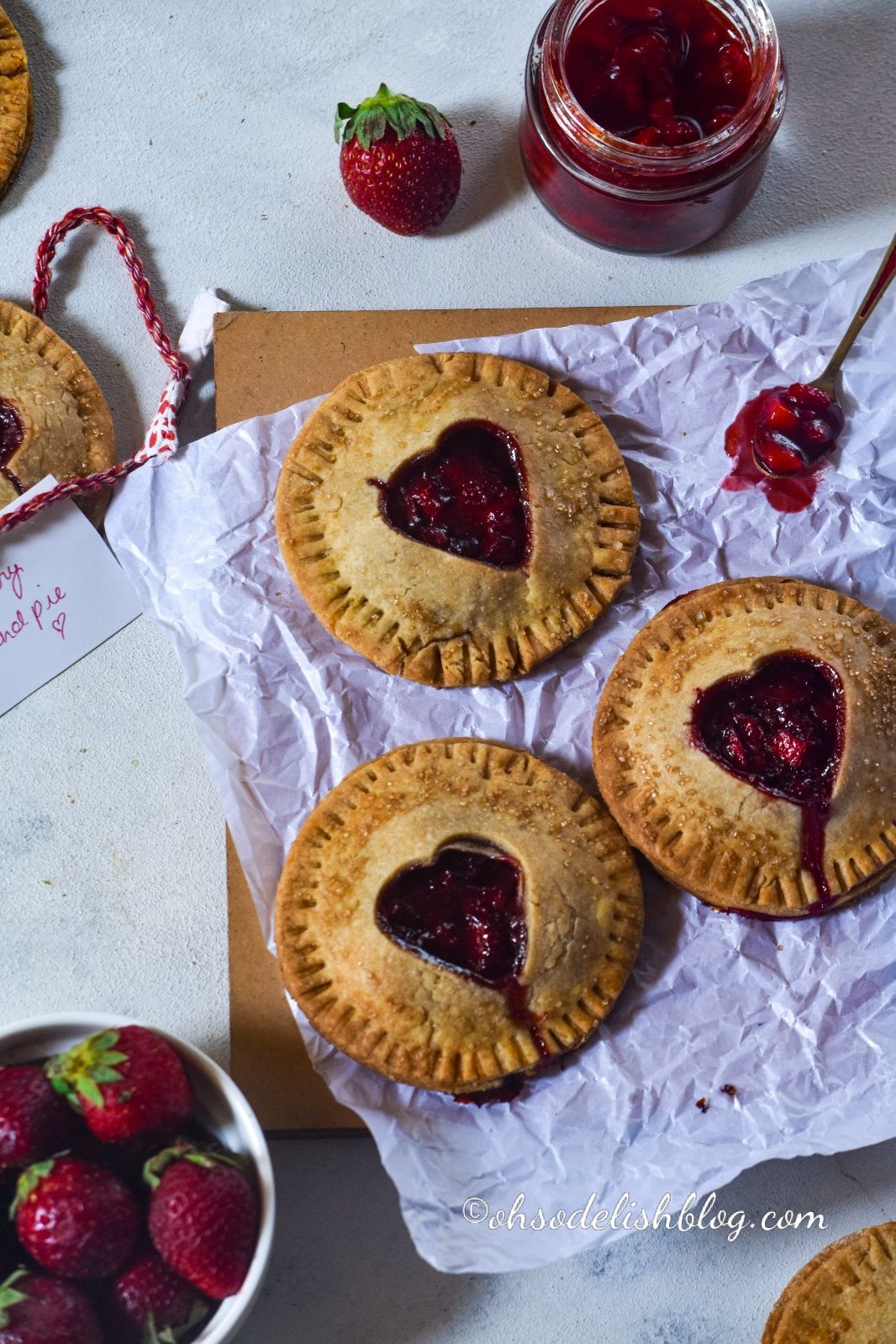 Whole wheat Strawberry hand pies