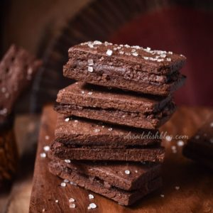 healthy homemade eggless bourbon biscuits