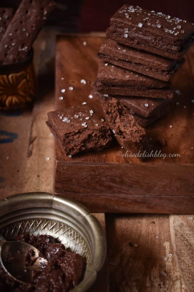 healthy homemade eggless bourbon biscuit
