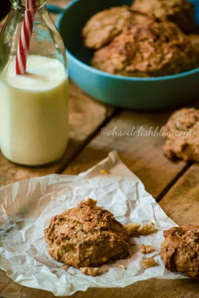 Wholewheat banana coffee scones
