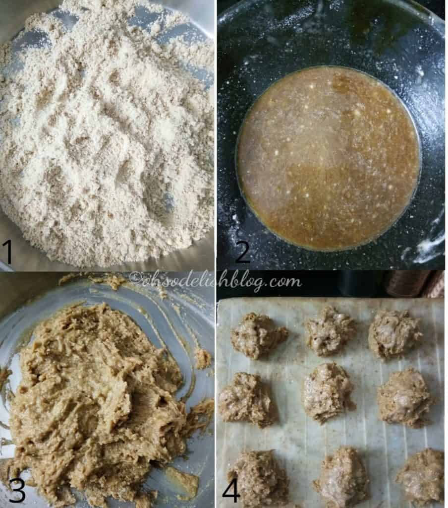 Steps of making banana Coffee scones