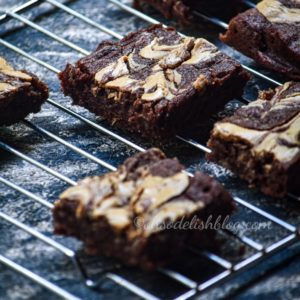 Peanut butter banana brownies (Eggless brownies)