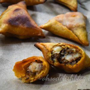 Baked Bengali style shingara – Baked Bengali samosa