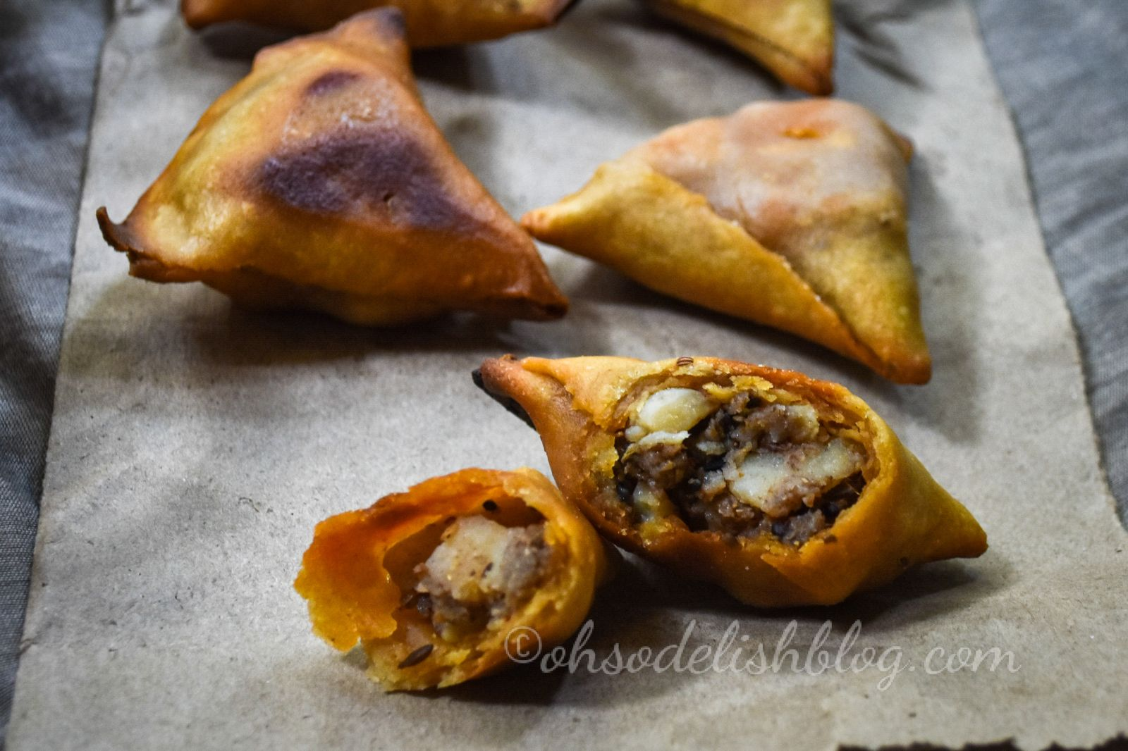 healthy whole wheat samosa