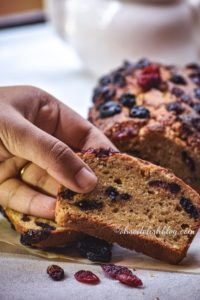 cranberry blueberry banana bread