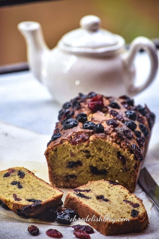 healthy whole wheat mixed berry banana bread